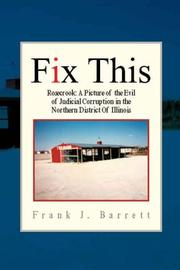 Cover of: Fix This