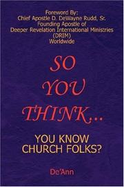 Cover of: So You Think... | De