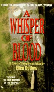 Cover of: A Whisper of Blood