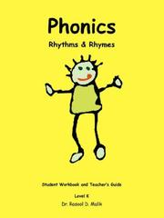Cover of: Phonics Rhythms  and  Rhymes K | Dr. Rasool D. Malik