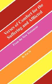 Cover of: Verses of Comfort for the Suffering and Afflicted | Pat M