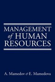 Management of Human Resources by A. Mamedova, E. Mamedova