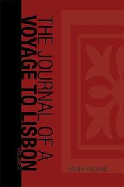 Cover of: Journal of a Voyage to Lisbon | Henry Fielding