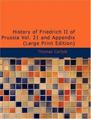 Cover of: History of Friedrich II of Prussia, Volume 21 and appendix