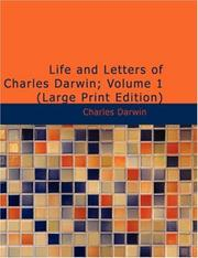 Cover of: Life and Letters of Charles Darwin; Volume 1: Volume 1