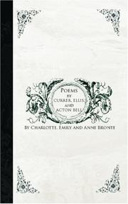 Cover of: Poems by Currer, Ellis, and Acton Bell