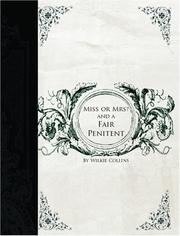 Cover of: Miss or Mrs? AND A Fair Penitent