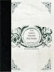 Cover of: The Early Short Fiction of Edith Wharton, Vol 2