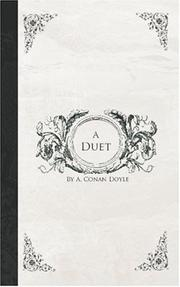 Cover of: A Duet | Arthur Conan Doyle