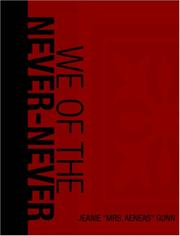 Cover of: We of the Never-Never (Large Print Edition) | Mrs. Aeneas Gunn