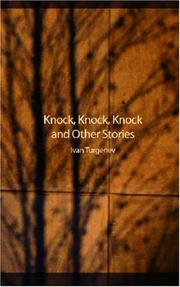 Cover of: Knock, Knock, Knock and Other Stories