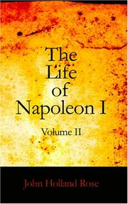 Cover of: The Life of Napoleon I Volume II