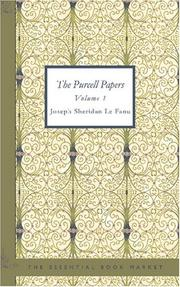 Cover of: The Purcell Papers Volume 1 | Joseph Sheridan Le Fanu