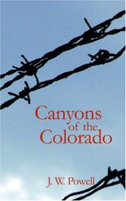 Cover of: Canyons of the Colorado | John Wesley Powell