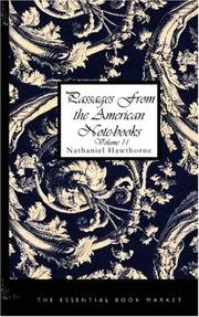 Cover of: Passages from the American Notebooks, Volume 2