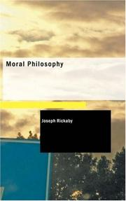 Cover of: Moral philosophy