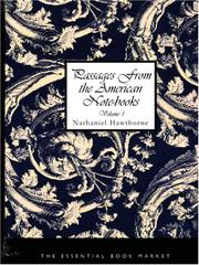Cover of: Passages from the American Notebooks, Volume 1