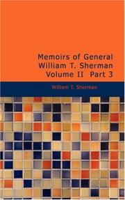 Cover of: Memoirs of General William T. Sherman, Volume II, Part 3