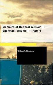 Cover of: Memoirs of General William T. Sherman, Volume II., Part 4