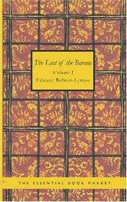 Cover of: The Last of the Barons Volume 1