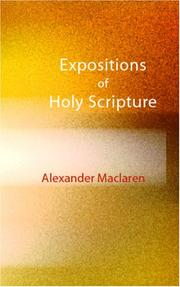 Cover of: Expositions of Holy Scripture
