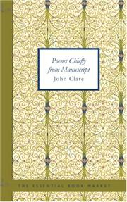Cover of: Poems Chiefly from Manuscript