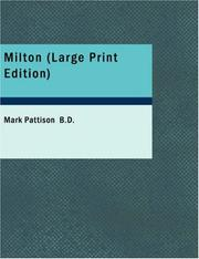 Milton (large Print Edition)