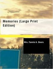 Cover of: Memories (Large Print Edition) | Mrs. Fannie A. Beers