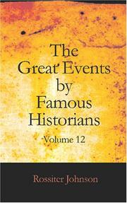 Cover of: The Great Events by Famous Historians, Volume 12
