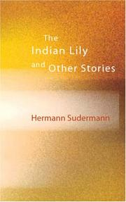 Cover of: The Indian Lily and Other Stories