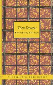 Cover of: Three Dramas