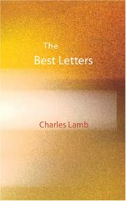 Cover of: The Best Letters of Charles Lamb