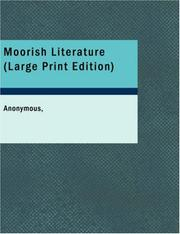 Cover of: Moorish Literature (Large Print Edition) | Anonymous