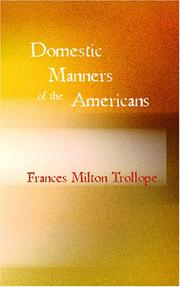 Cover of: Domestic Manners of the Americans | Judith Martin