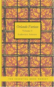 Cover of: Orlando Furioso Volume 1