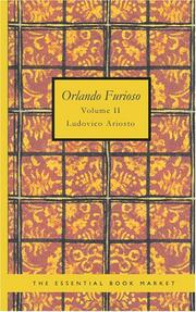 Cover of: Orlando Furioso Volume 2