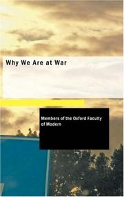 Cover of: Why We Are at War