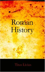 Cover of: Roman History, Books I-III