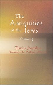Cover of: The Antiquities of the Jews Volume 3