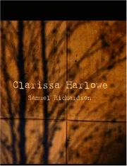 Cover of: Clarissa Harlowe