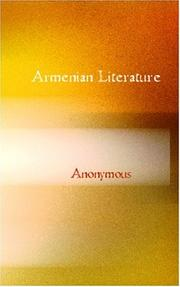 Cover of: Armenian Literature | Anonymous