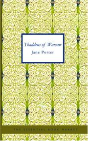 Cover of: Thaddeus of Warsaw | Jane Porter