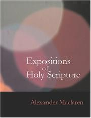 Cover of: Expositions of Holy Scripture- Psalms