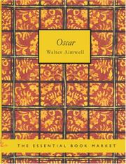 Cover of: Oscar (Large Print Edition) | Walter Aimwell