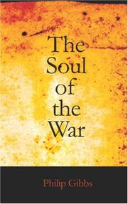 Cover of: The Soul of the War | Philip Gibbs