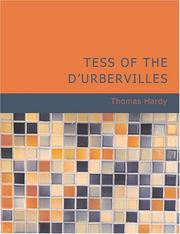 Cover of: Tess of the d/Urbervilles (Large Print Edition) | Thomas Hardy