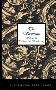 Cover of: The Virginians, Volume II | William Makepeace Thackeray