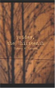 Cover of: Friday, The Thirteenth | Thomas W. Lawson