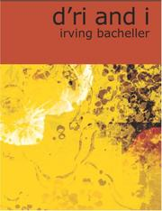 Cover of: D/Ri and I (Large Print Edition) | Irving Bacheller