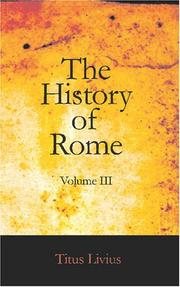 Cover of: The History of Rome, Volume III: Books 27 to 36